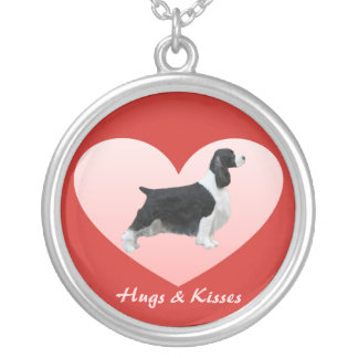 English Springer Spaniels Heart Necklace