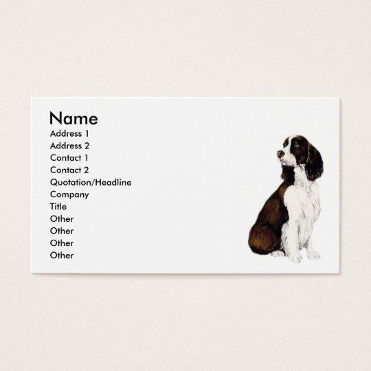 """English Springr Spaniel"" Dog Art Business Card"