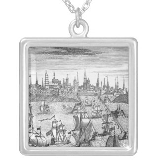 English Squadron Carrying Troops Silver Plated Necklace