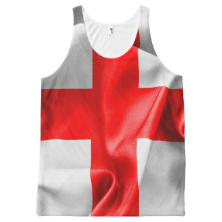 English St Georges Cross Flag All-Over-Print Tank Top