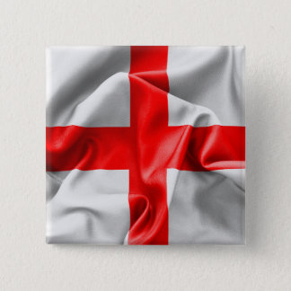English St Georges Cross Flag Button