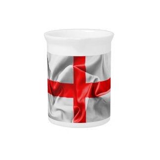 English St Georges Cross Flag Drink Pitcher