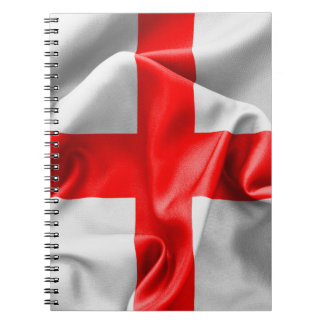 English St Georges Cross Flag Notebook