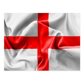 English St Georges Cross Flag Postcard