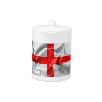 English St Georges Cross Flag Teapot