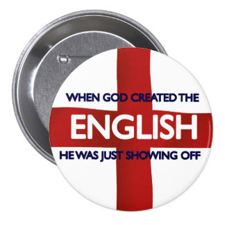 English St George's Day God Created Pinback Buttons