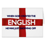 English St George's Day God Created Greeting Cards