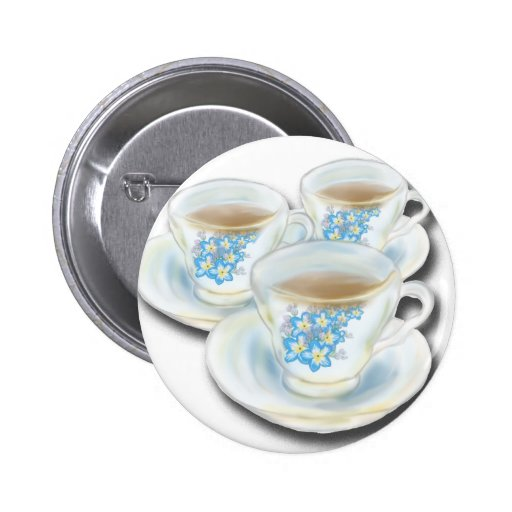 English Tea Set - China with forgetmenot flowers Button