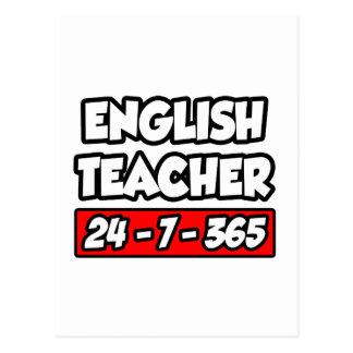 English Teacher 24-7-365 Postcard