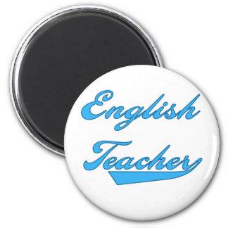 English Teacher Blue 2 Inch Round Magnet