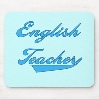 English Teacher Blue Text T-shirts and Gifts Mouse Pad