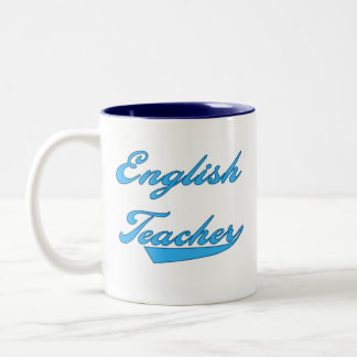English Teacher Blue Two-Tone Coffee Mug