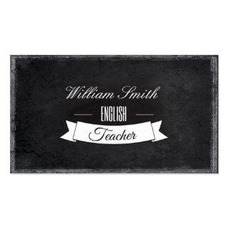 English Teacher Business Card
