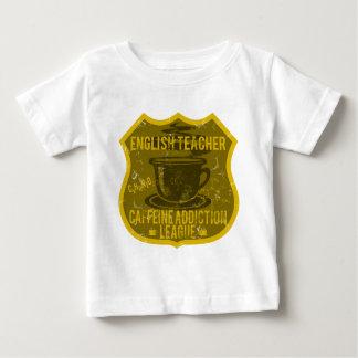 English Teacher Caffeine Addiction League Tee Shirt