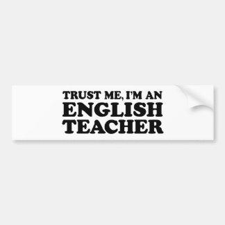 English Teacher Car Bumper Sticker