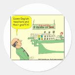 English Teacher Cartoon in color Sticker