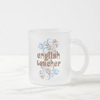 English Teacher Cute Gift Frosted Glass Coffee Mug