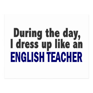 English Teacher During The Day Post Cards