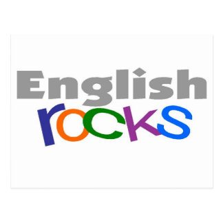 "English Teacher ""English Rocks"" Gifts Postcard"