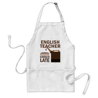 English Teacher (Funny) Chocolate Adult Apron
