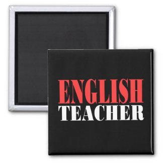 English Teacher Gift 2 Inch Square Magnet