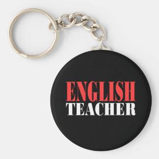 English Teacher Gift Basic Round Button Keychain