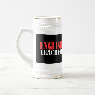 English Teacher Gift Beer Stein