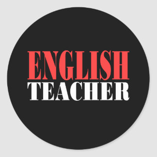 English Teacher Gift Classic Round Sticker