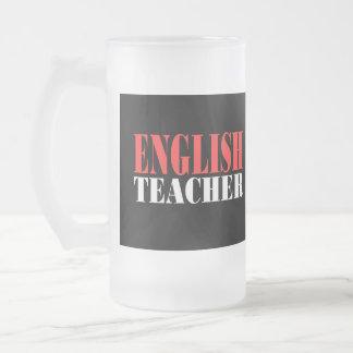 English Teacher Gift Frosted Glass Beer Mug