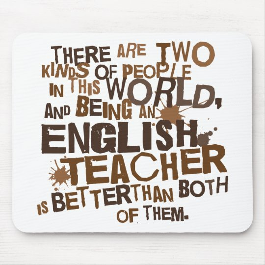 English Teacher Gift Mouse Pad