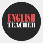 English Teacher Gift Round Stickers
