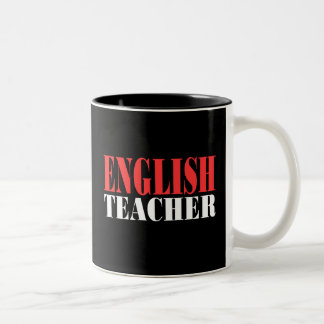 English Teacher Gift Two-Tone Coffee Mug