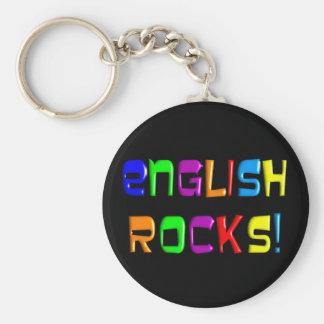 "English Teacher Gifts ""English Rocks!"" Keychain"