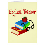 English Teacher Gifts Greeting Cards