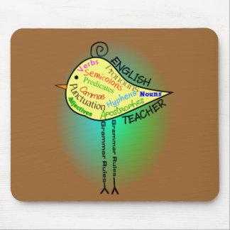 """English Teacher """"Grammar Bird"""" Gifts Mouse Pad"""