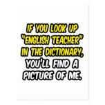 English Teacher In Dictionary...My Picture Postcards