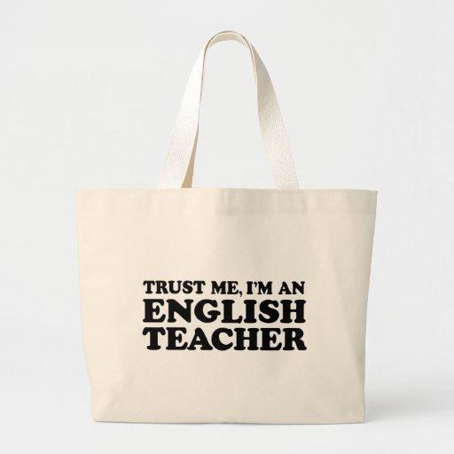 English Teacher Large Tote Bag