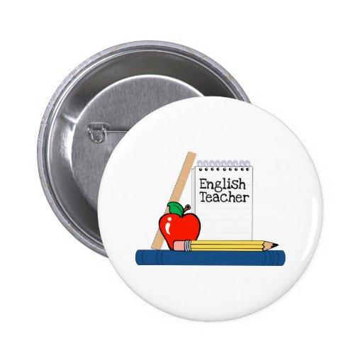 English Teacher (Notebook) Pinback Buttons