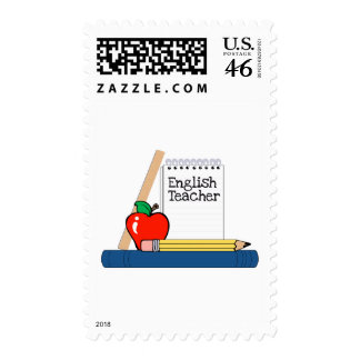 English Teacher (Notebook) Postage Stamps