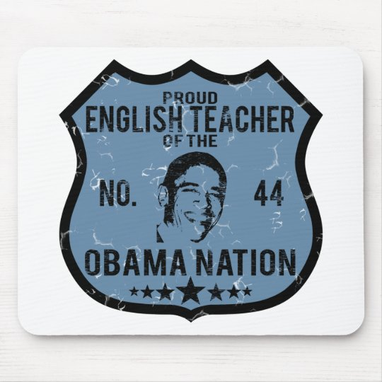 English Teacher Obama Nation Mouse Pad