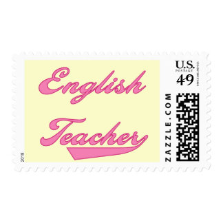 English Teacher Pink Tshirts and Gifts Postage