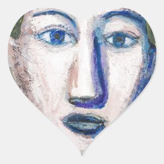 English Teacher (portrait expressionism) Heart Sticker