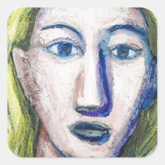 English Teacher (portrait expressionism) Square Sticker