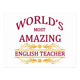 English Teacher Postcard