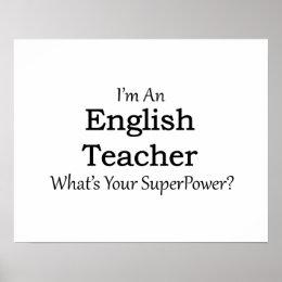 English Teacher Poster