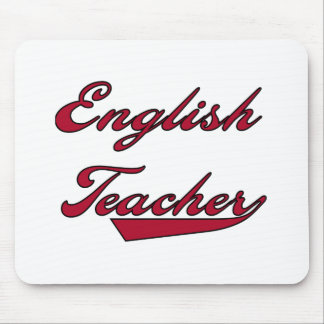 English Teacher Red Mouse Pad