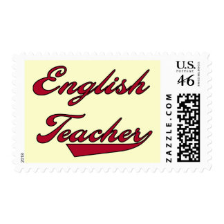 English Teacher Red Tshirts and Gifts Stamps