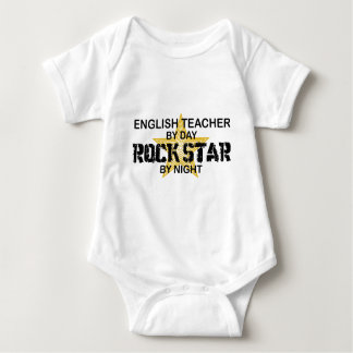 English Teacher Rock Star Baby Bodysuit
