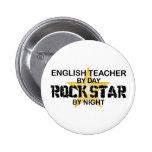 English Teacher Rock Star Pins