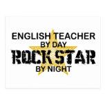 English Teacher Rock Star Post Cards